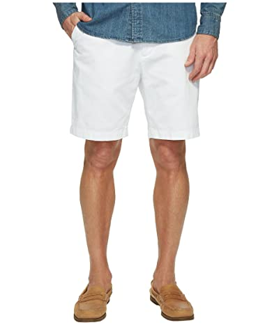 Nautica Anchor Twill Flat Front Shorts (Bright White) Men