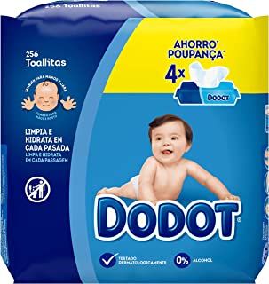 Dodot Toallitas Para Bebé 4 Paquetes, 256 Toallitas