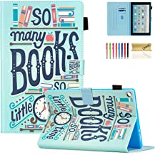 Dteck Case for All-New Amazon Fire HD 10 Tablet (7th Generation, 2017 Release) - Slim Fit PU Leather Folio Stand Smart Cover with Auto Wake/Sleep for Fire HD 10.1 inch, Books
