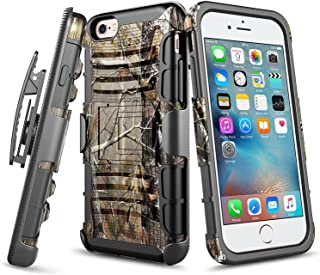 iPhone 6S Case, iPhone 6 Case, E-Began Belt Clip Holster with Kickstand Protective Hybrid Cover Heavy Duty Armor Defender ...