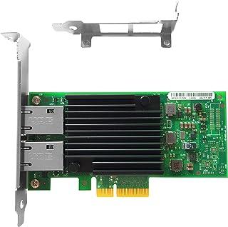 Vogzone for Intel X550-T2 X550-T1 10GB NIC Network Card Dual 10G RJ45 Port X550-T2(2 * 10GBase-T Port) VG-X550-T2