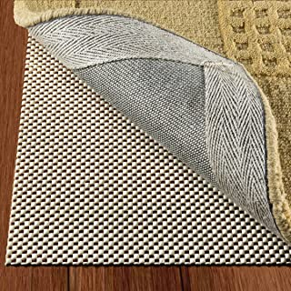 DoubleCheck Products Non Slip Rug Pad Size 8 X 10 for Hard Surface Floors Extra Strong Grip and Thick Padding