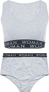 Yours - Grey Lounge Woman Bralette Set - Women's - Plus Size Curve
