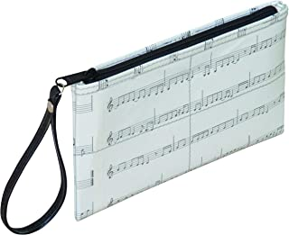 Wristlet Made From Musical Note Sheet Prime music themed gifts for music lover friend musician singer mom singing teacher student choir member bag purse clutch present for violin piano guitar player