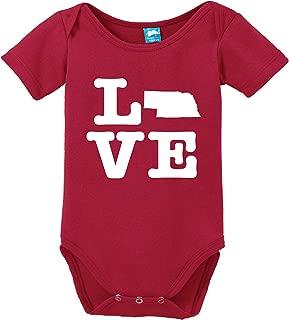 Nebraska Love Printed Infant Bodysuit Baby Romper