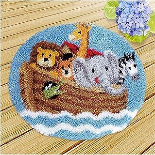 Kits De Crochet De Loquet, Kits De Point De Croix De Coussin Bricolage, Broderie pour Crochet pour Les Kits Débutants Adul...