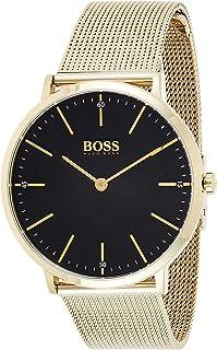 Hugo Boss Mens Quartz Watch, Analog Display and Stainless Steel Strap 1513735