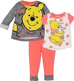 Disney Winnie The Pooh Baby Girls' 3 Piece Long-Sleeve Fleece Top, Tee & Pant Set