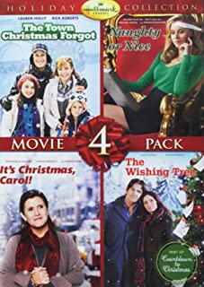 Hallmark Holiday 4 Pack DVD Set - Naughty or Nice, Its Christmas Carol, The Wishing Tree, The Town That Christmas Forgot