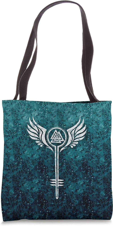 Valkyrie Symbol, Odin Valknut, Shieldmaiden, Viking, Warrior Tote Bag