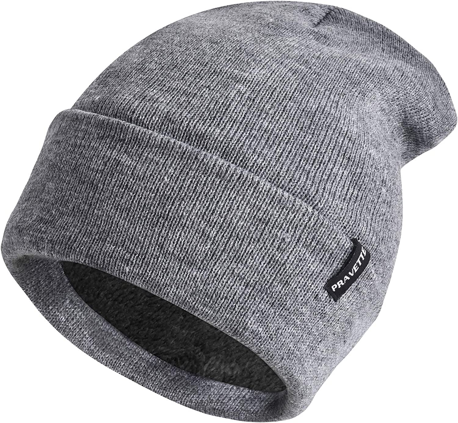 PRAVETTE Winter Beanie Hat with Soldering Warm Max 85% OFF Lining - Knit Hats S Unisex