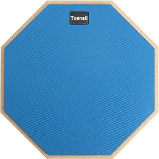 Tosnail 12インチサイレントドラム練習パッド - ブルー - ボーナス5Aドラムスティック