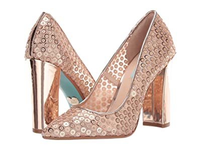Blue by Betsey Johnson Paula Pump (Rose Gold) Women