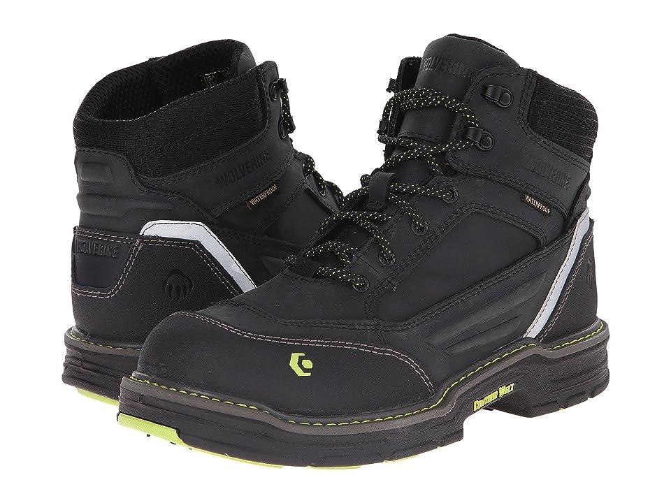 Wolverine Overman 6 Composite Toe Boot (Black/Grey) Men