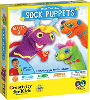 Creativity for Kids My First Sock Puppets - Hand Puppets for Kids - Mess Free and Travel Friendy