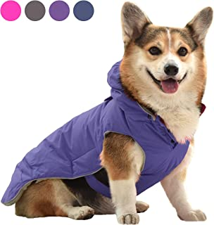 SENYEPETS Dog Winter Warm Coat Detachable Hooded Winter Waterproof Dog Jacket, Windproof Fleece Lining Dog Clothes, Apparel Warm Vest for Small Medium Dogs