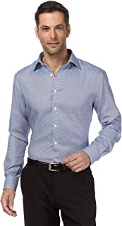 Camisa de Hombre, Corte Ajuste Recto (Regular-fit), 100% algodón, Manga-Larga, Cuello Kent, Lisa - no Necesita Plancha