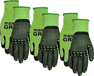 Midwest 93P03-L-AZ-6 Max Grip, 3 Pair Pack, Ladies Green