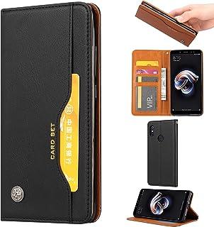 Läder plånbok fodral för Xiaomi RedMi Note 6 Pro läderkåpa med kortplats Kickstand chocktäker mjukt TPU Inre skal (Color :...