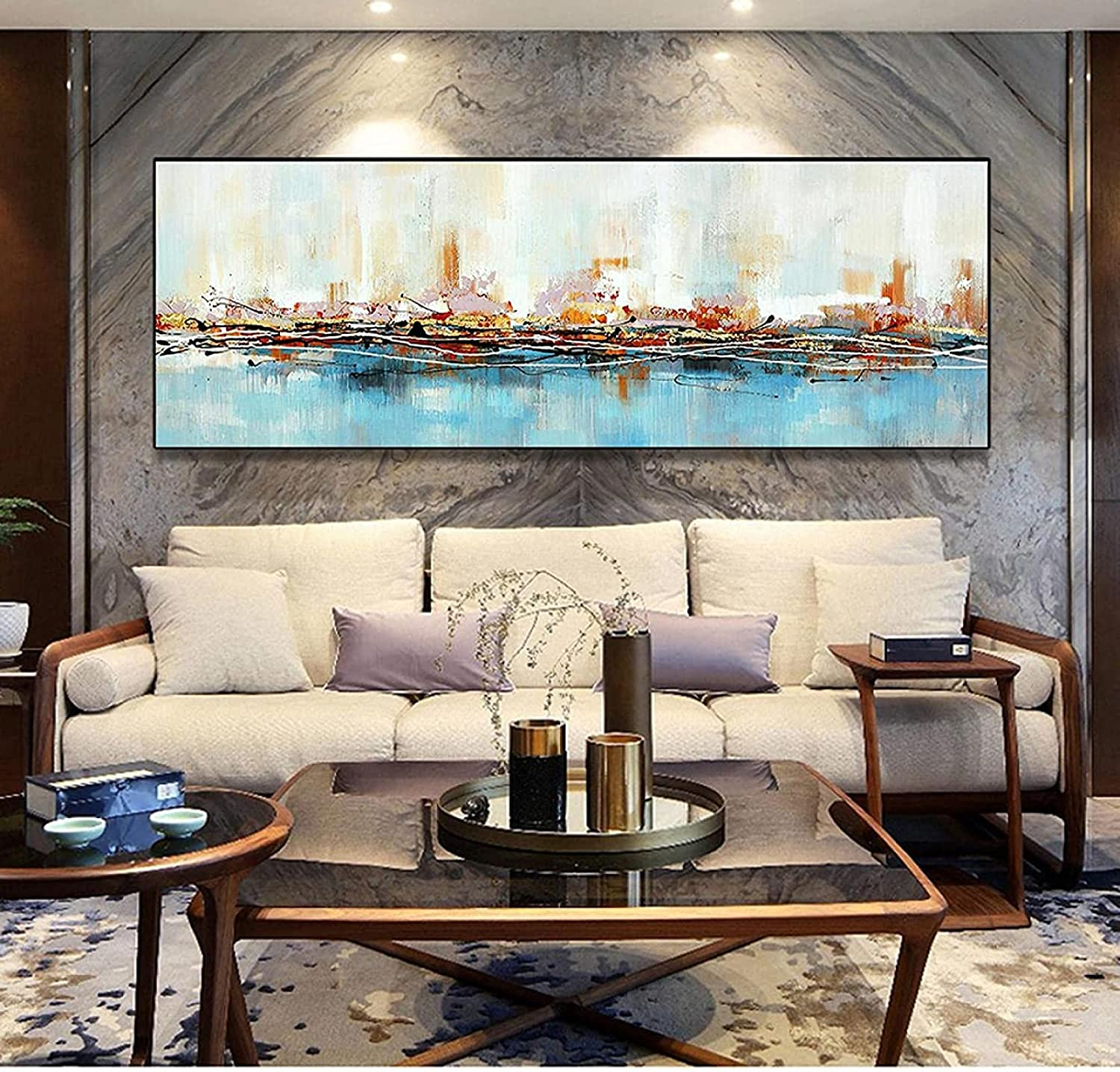 Max 84% OFF SXXRZA Art Poster 11.8x35.4in 30x90cm Frame No Modern New mail order Large Blu