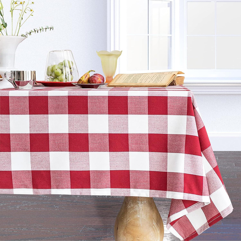 Wracra Denver Mall Cotton Checkered Tablecloths Buffalo High order Square Plaid Table C