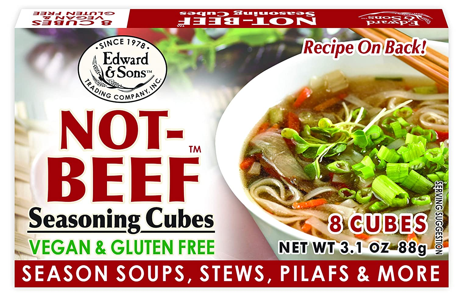 Edward Sons Bouillon Cubes 3.1 Super beauty product restock quality top Pac Ranking TOP2 Not-Beef Ounce Boxes