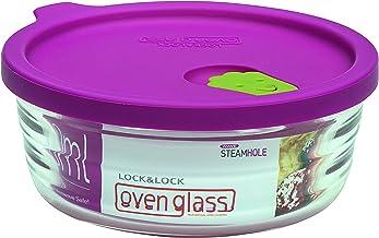 Lock & Lock LLG751 Vidrio de horno para microondas y horno, vidrio, transparente, 132 × 54 mm