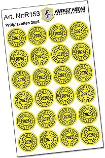 24 stuks testplaatjes keuringszegel Ø20 mm sticker jaarplaatje UVV BGV D27 BGR (jaar 2025)