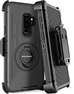 Galaxy S9 Plus Case, BENTOBEN Shockproof Heavy Duty Hybrid PC Silicone Full Body Rugged Kickstand Belt Clip Holster Protective Phone Case for Samsung Galaxy S9 Plus Black