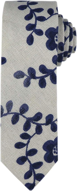 Kihatwin Men Novelty Ties Linen shopping Pattern Pri Cotton Skinny Cravat Max 67% OFF