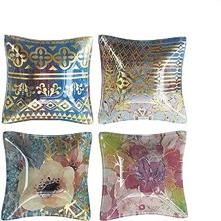 Tracy Porter 1183687-4B Square Bowls (Set of 4), Multicolor