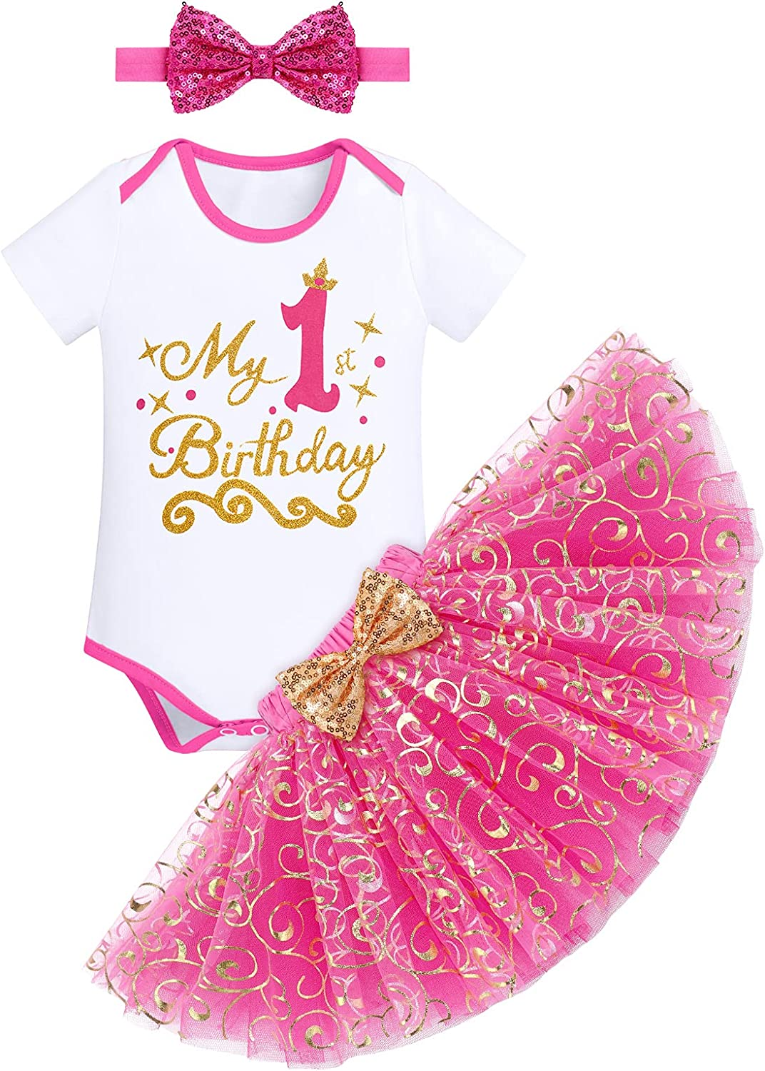 IMEKIS Baby Girls Deluxe Princess 1st OFFer 3rd Outfit 1 year warranty Birthday Ro 2nd