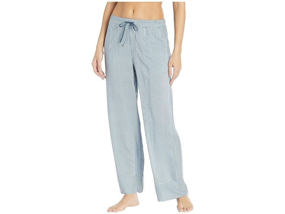 Donna Karan Long Sleep Pants (Petrol Stripe) Women's Pajama, Blue
