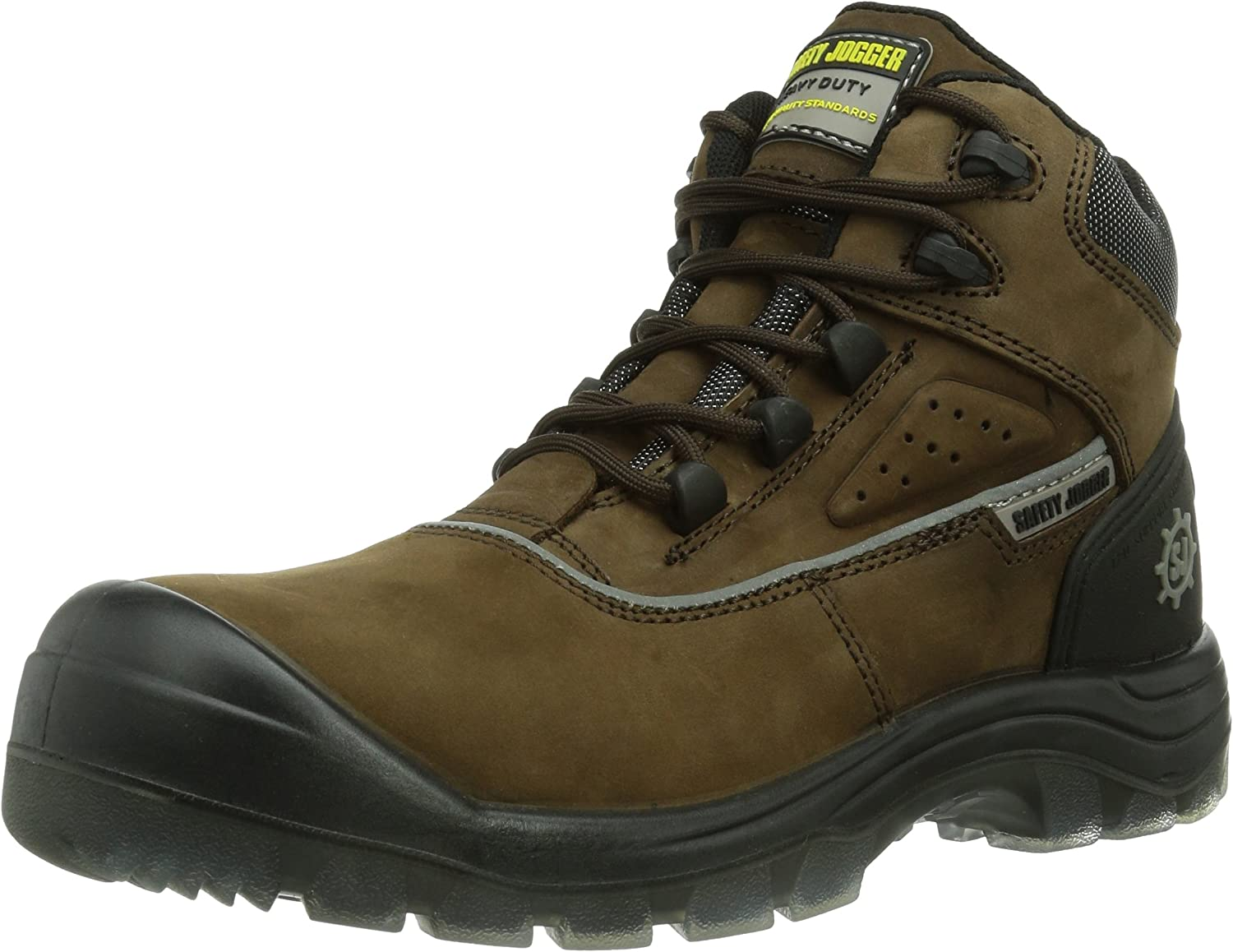 Safety Jogger Geos Men's Safety shoes, Brown (Brown 858), EU 45