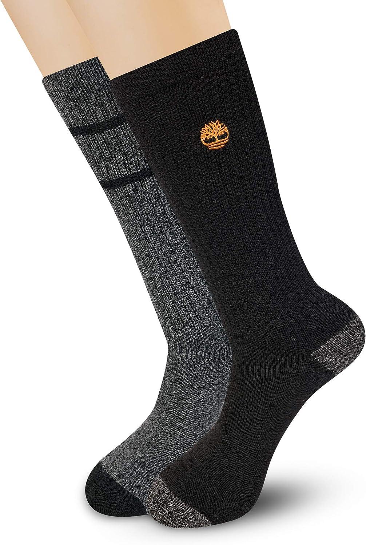 Timberland Men's 2-Pack Core Stripe Boot Socks