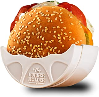 Burger Holder - Adjustable Original Solid Reusable Shell for Home Use or Restaurant - Perfect For Sloppy Joes Lovers To - Mess-Free Hygienic Machine Dishwasher Safe and BPA Free
