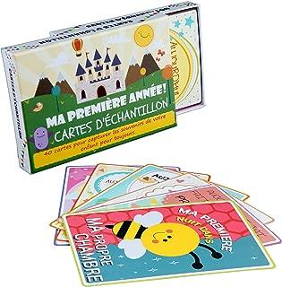 Dsaren 36 PCS Carte a Grandir Bebe Carte Photo B/éb/é Mois Cartes /Étapes B/éb/é pour Nouveau-n/é Gar/çon et Fille Douche de B/éb/é