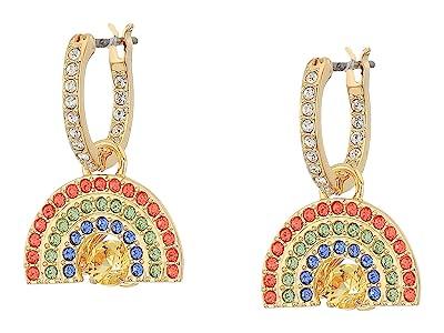 Swarovski Sparkling Dance Rainbow Pierced Earrings (Light Multi/Rainbow) Earring