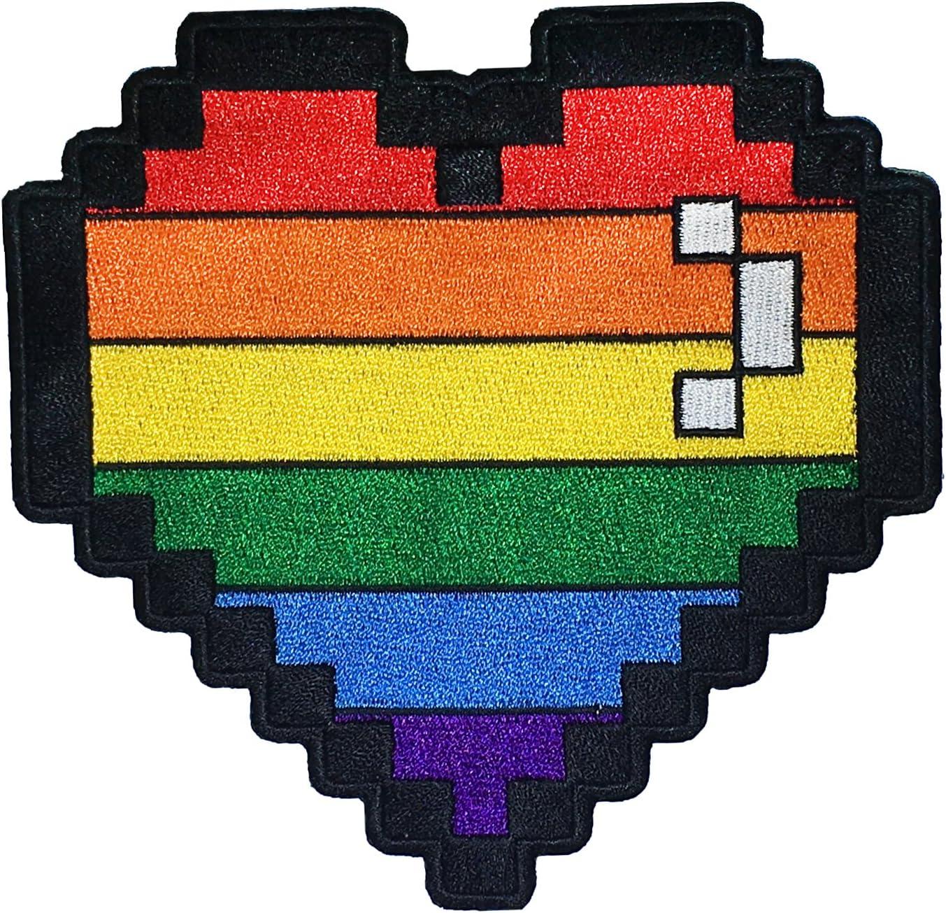 Rainbow 8 Bit Full Over item handling ☆ Life Overseas parallel import regular item Lives Gay Pride LGBT Gamer Lesbian Pixel