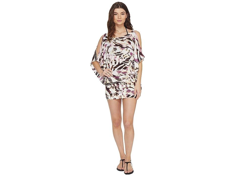 Vitamin A Swimwear Costa Brava Tunic Cover-Up (La Plume Print Beachwear) Women
