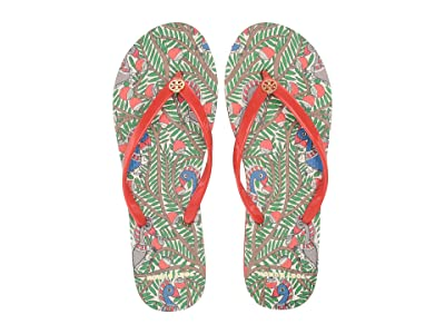 Tory Burch Thin Flip Flop (Spicy Orange/Orange Something Wild) Women