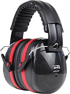 Cyber Acoustic Professional Safety Heavy Duty Ear Muffs for Hearing Protection and Noise Reduction for Air Traffic Ground Support, Construction Work, Hunting/Shooting Ranges, and more (ACS-340)