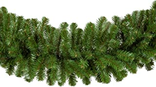 Red Sleigh Sequoia Fir Commercial-Grade Traditional Christmas Wreath and Matching Christmas Garland Greenery (14