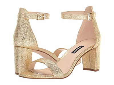Nine West Pruce Block Heeled Sandal (Gold) Women