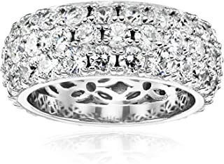 3 row pave ring
