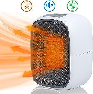 UKEER Calentador portátil, Calefactor Eléctrico Cerámico Mini Calentador Ventilador portátil con protección contra sobrecalentamiento para Cuarto/Oficina