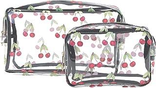 Hibala 2Pcs Portable Clear Waterproof Makeup Cosmetic Bag Makeup Bag Toiletry Bag Wash Bag Vacation, Bathroom and Organizi...