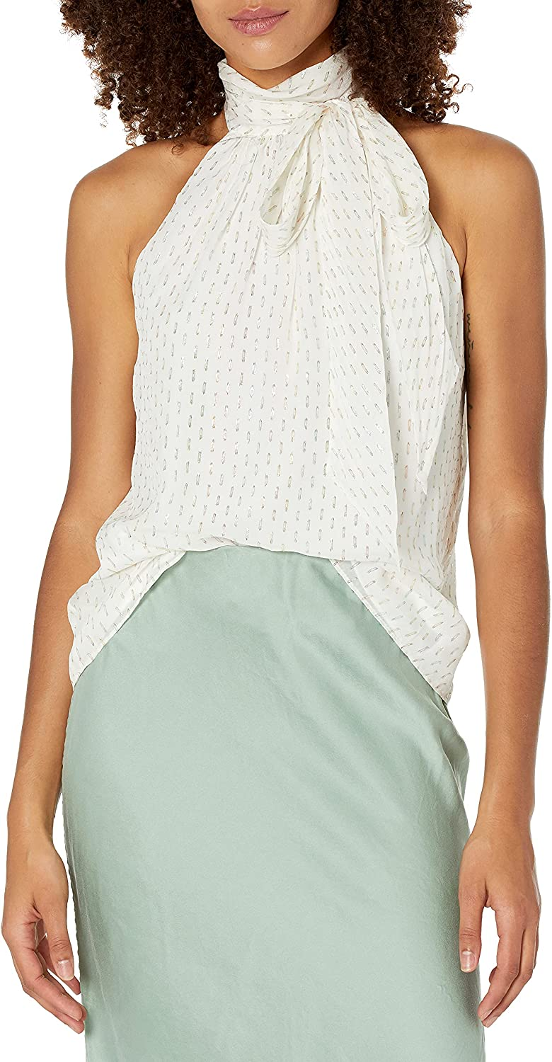 Ramy Cheap mail order specialty store Brook Women's Sleeveless Max 48% OFF Multi Top Neck High Lori Lurex