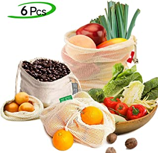 Sac Legumes Reutilisable Lavable pour Ranger Les Fruits et L/égumes Les Sacs /à Cordon de Serrage L/égers 3S 6M 3L Digead Sac Reutilisable Fruit Legume 12Pcs