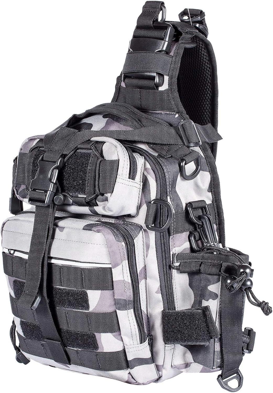Himal Fishing Tackle Storage Bag,Outdoor Shoulder Backpack,Fishing Gear Bag,Waterproof Shoulder Backpack Cross Body Sling Bag with Rod Holder,Digital Camouflage : Sports & Outdoors